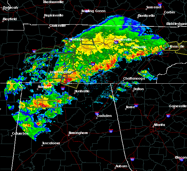Radar Image for Severe Thunderstorms near Ardmore, AL at 4/22/2017 4:37 PM CDT