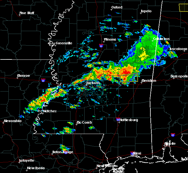 Radar Image for Severe Thunderstorms near Decatur, MS at 4/22/2017 4:46 PM CDT