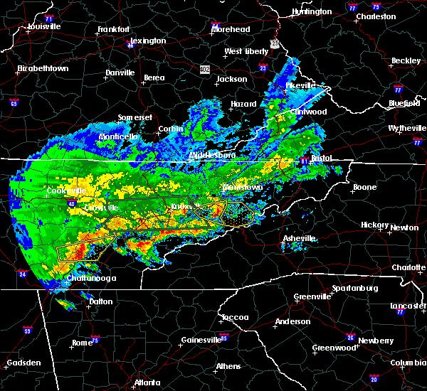 Radar Image for Severe Thunderstorms near Parrottsville, TN at 4/22/2017 6:23 PM EDT