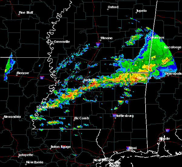 Radar Image for Severe Thunderstorms near Lauderdale, MS at 4/22/2017 5:51 PM CDT