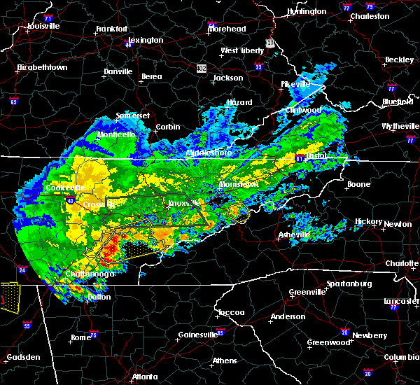 Radar Image for Severe Thunderstorms near Newport, TN at 4/22/2017 6:54 PM EDT