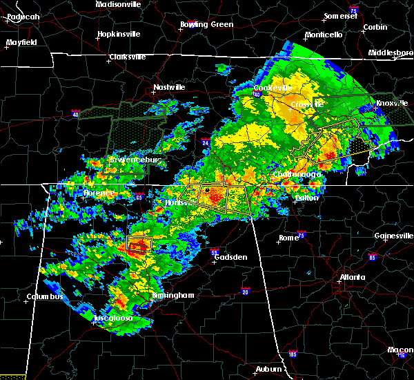 Radar Image for Severe Thunderstorms near Hytop, AL at 4/22/2017 6:00 PM CDT