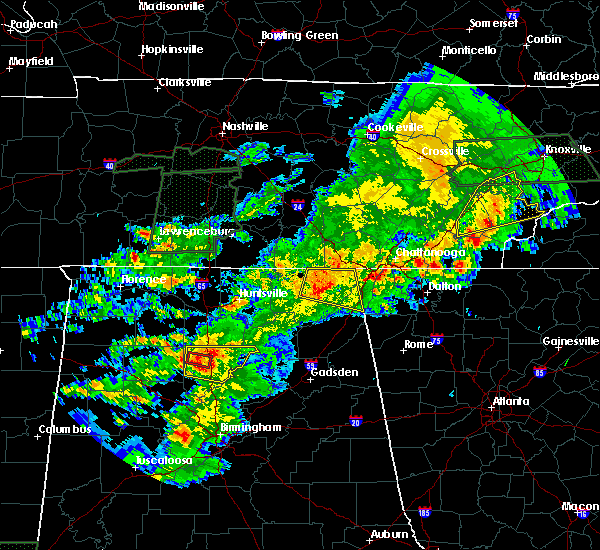 Radar Image for Severe Thunderstorms near Hollywood, AL at 4/22/2017 6:09 PM CDT