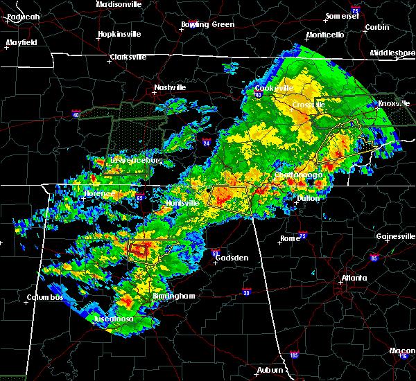 radar image for severe thunderstorms near bridgeport al at 4222017 6