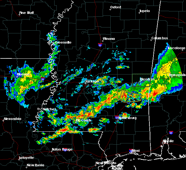 Radar Image for Severe Thunderstorms near Bay Springs, MS at 4/22/2017 7:26 PM CDT