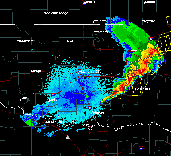 Radar Image for Severe Thunderstorms near Allen, OK at 4/26/2017 12:22 AM CDT