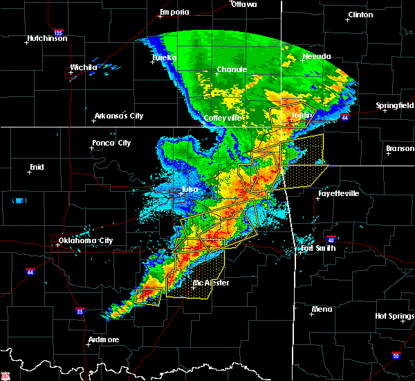 Radar Image for Severe Thunderstorms near Checotah, OK at 4/26/2017 12:28 AM CDT
