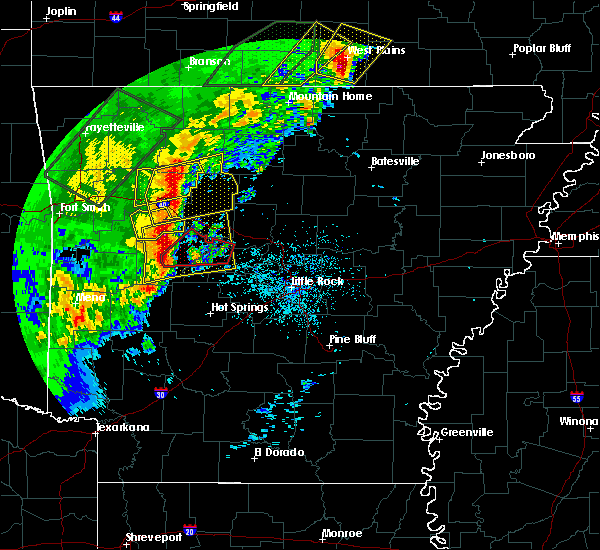 Radar Image for Severe Thunderstorms near Ola, AR at 4/26/2017 9:59 AM CDT