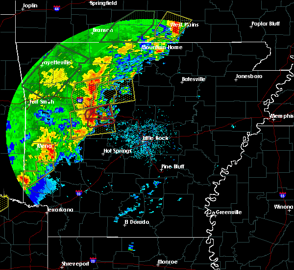 Radar Image for Severe Thunderstorms near Dennard, AR at 4/26/2017 10:14 AM CDT