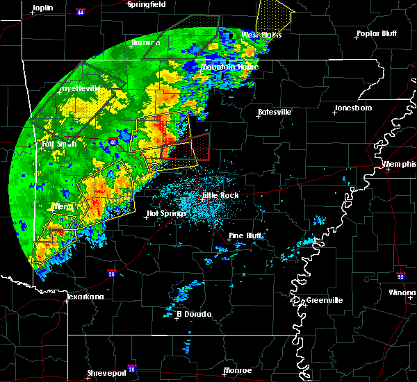 Radar Image for Severe Thunderstorms near Damascus, AR at 4/26/2017 10:42 AM CDT
