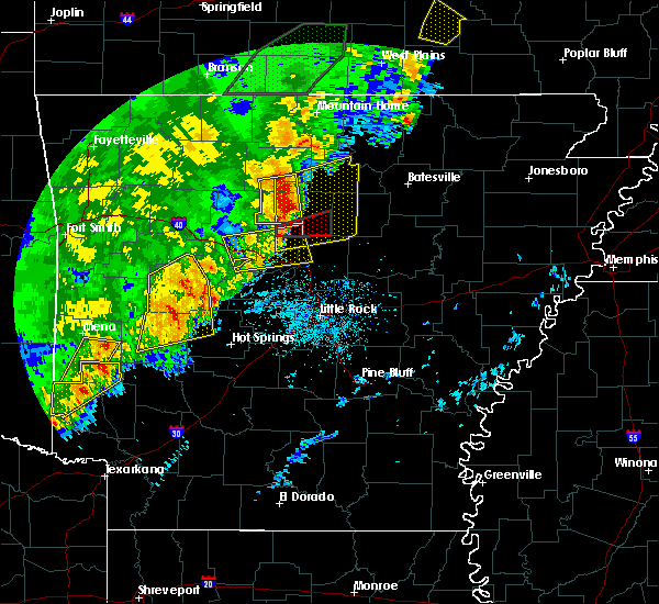 Radar Image for Severe Thunderstorms near Dennard, AR at 4/26/2017 10:54 AM CDT