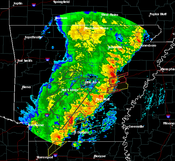 Radar Image for Severe Thunderstorms near Stuttgart, AR at 4/26/2017 4:34 PM CDT