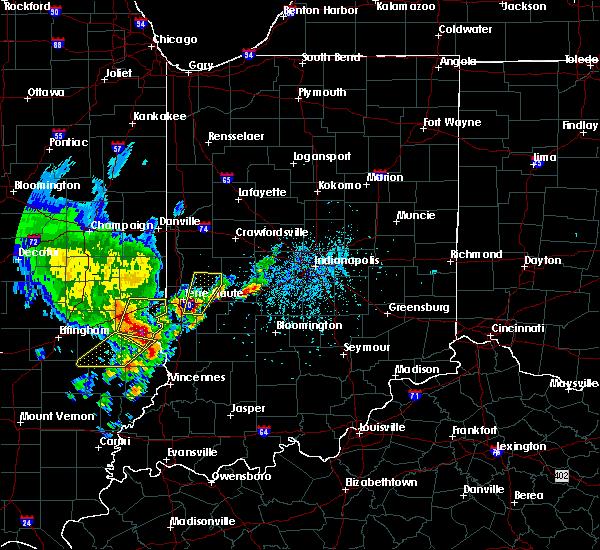 Radar Image for Severe Thunderstorms near Terre Haute, IN at 4/26/2017 5:50 PM EDT