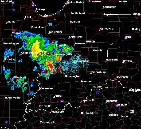 Radar Image for Severe Thunderstorms near Marshall, IN at 4/26/2017 6:46 PM EDT