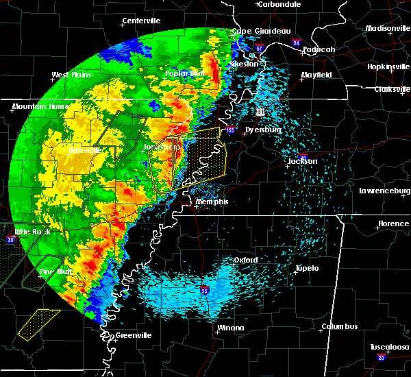 Radar Image for Severe Thunderstorms near Black Oak, AR at 4/26/2017 5:57 PM CDT