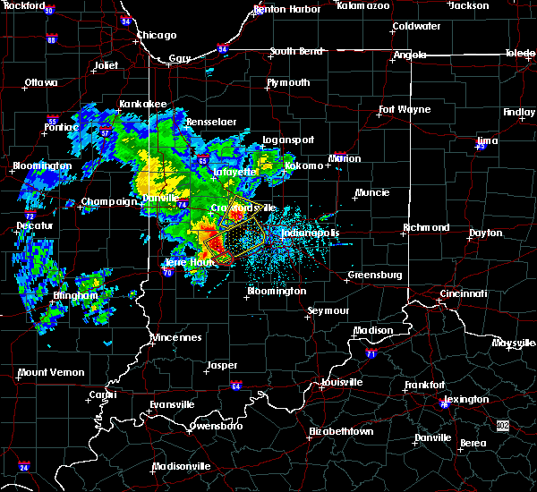 Radar Image for Severe Thunderstorms near Whitestown, IN at 4/26/2017 7:03 PM EDT