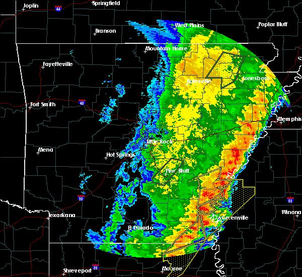 Radar Image for Severe Thunderstorms near Arkansas City, AR at 4/26/2017 6:51 PM CDT