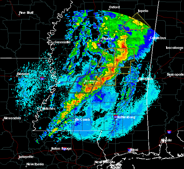 Radar Image for Severe Thunderstorms near Pearl River, MS at 4/26/2017 10:39 PM CDT