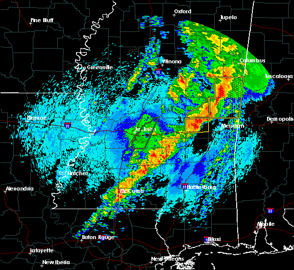 Radar Image for Severe Thunderstorms near Newton, MS at 4/26/2017 11:32 PM CDT