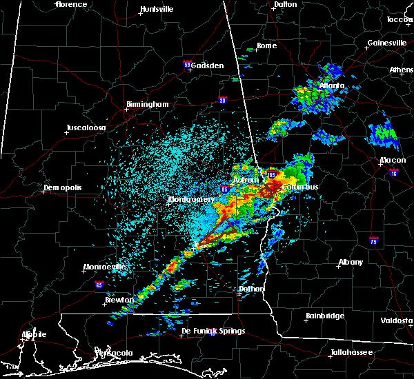 Radar Image for Severe Thunderstorms near Columbus, GA at 4/27/2017 12:44 PM EDT