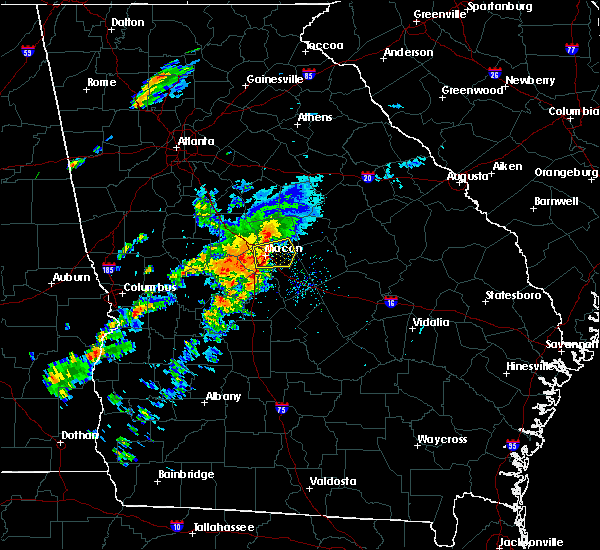 Radar Image for Severe Thunderstorms near Macon, GA at 4/27/2017 3:06 PM EDT