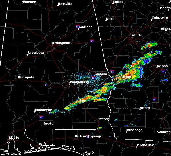 Radar Image for Severe Thunderstorms near Columbus, GA at 4/27/2017 6:53 PM EDT