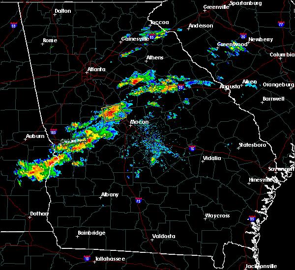 Radar Image for Severe Thunderstorms near Barnesville, GA at 4/27/2017 7:30 PM EDT