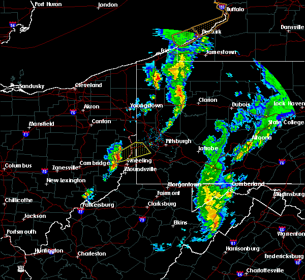 Radar Image for Severe Thunderstorms near Paris, PA at 4/27/2017 7:46 PM EDT