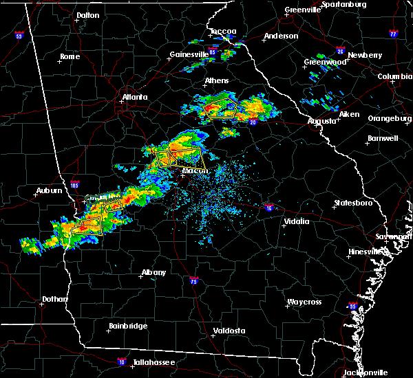 Radar Image for Severe Thunderstorms near Gray, GA at 4/27/2017 7:58 PM EDT