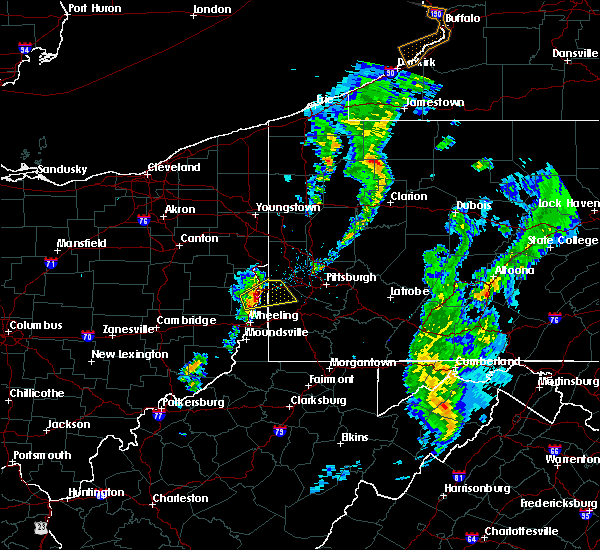 Radar Image for Severe Thunderstorms near Paris, PA at 4/27/2017 8:01 PM EDT