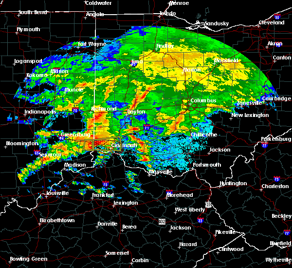Radar Image for Severe Thunderstorms near Cincinnati, OH at 4/28/2017 8:56 PM EDT