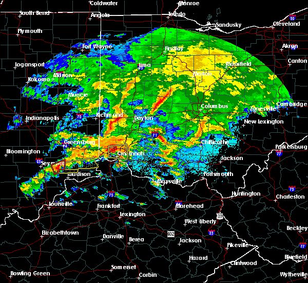 Radar Image for Severe Thunderstorms near Dayton, OH at 4/28/2017 9:12 PM EDT