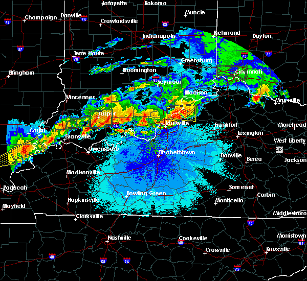 Radar Image for Severe Thunderstorms near Utica, KY at 4/29/2017 12:03 AM EDT