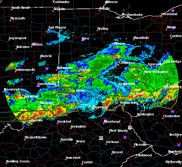 Radar Image for Severe Thunderstorms near Otway, OH at 4/29/2017 1:00 AM EDT