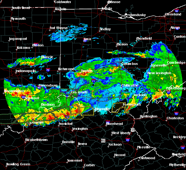 Radar Image for Severe Thunderstorms near Otway, OH at 4/29/2017 1:44 AM EDT
