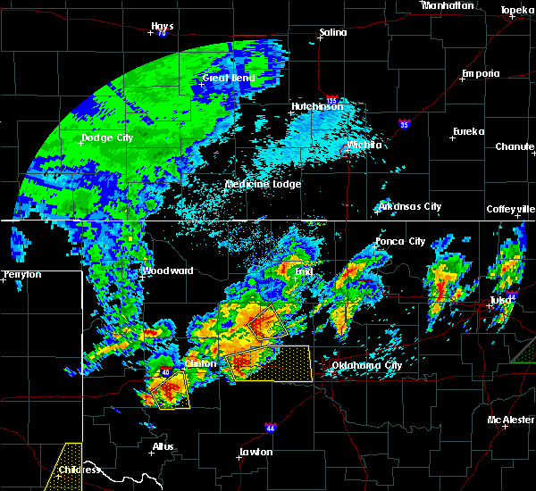 Radar Image for Severe Thunderstorms near Loyal, OK at 4/29/2017 1:07 AM CDT