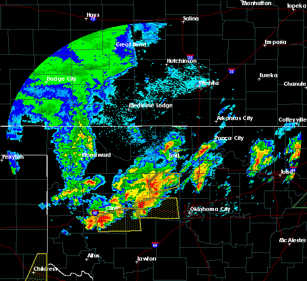 Radar Image for Severe Thunderstorms near Loyal, OK at 4/29/2017 1:19 AM CDT