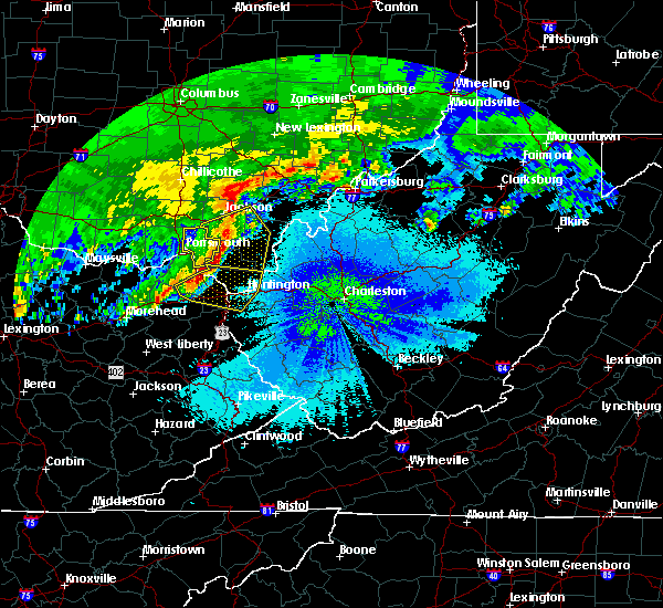 Radar Image for Severe Thunderstorms near Jackson, OH at 4/29/2017 3:45 AM EDT