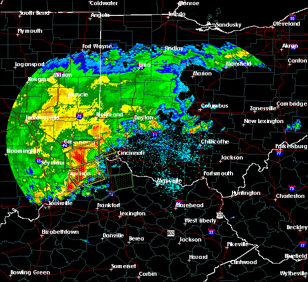 Radar Image for Severe Thunderstorms near Cincinnati, OH at 4/29/2017 8:17 AM EDT