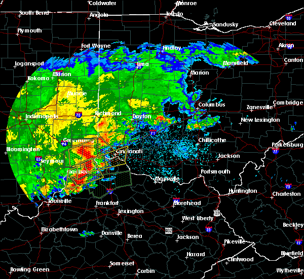 Radar Image for Severe Thunderstorms near Cincinnati, OH at 4/29/2017 8:27 AM EDT
