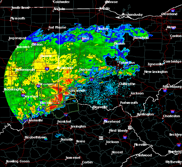 Radar Image for Severe Thunderstorms near Cincinnati, OH at 4/29/2017 8:43 AM EDT