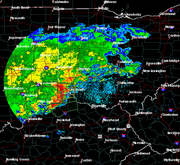 Radar Image for Severe Thunderstorms near Cincinnati, OH at 4/29/2017 8:49 AM EDT