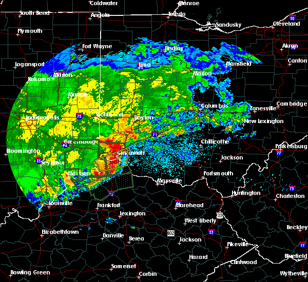 Radar Image for Severe Thunderstorms near Cincinnati, OH at 4/29/2017 8:56 AM EDT