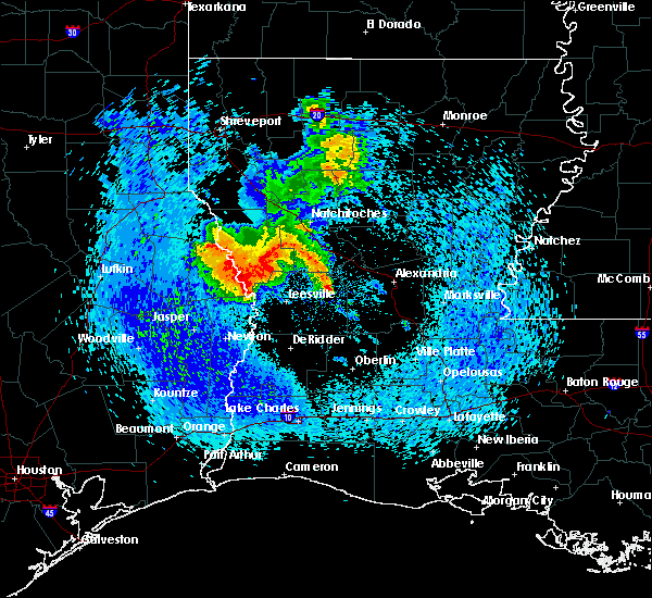Radar Image for Severe Thunderstorms near Fisher, LA at 4/29/2017 1:09 PM CDT