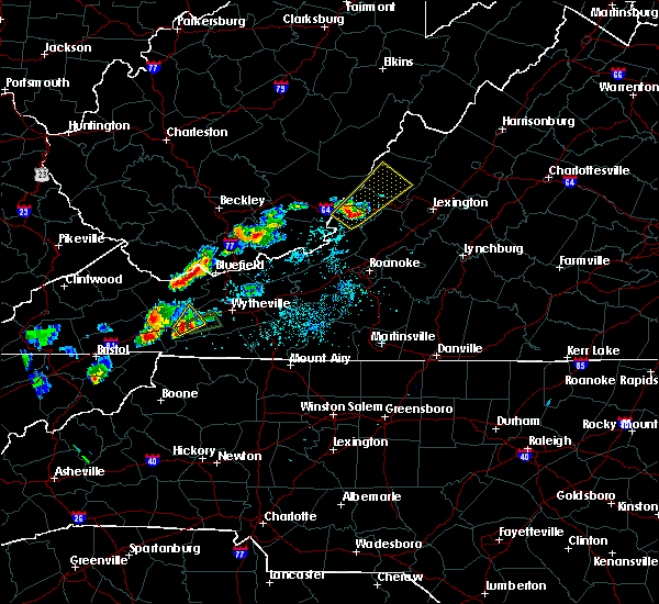 Radar Image for Severe Thunderstorms near Warm Springs, VA at 4/29/2017 5:34 PM EDT