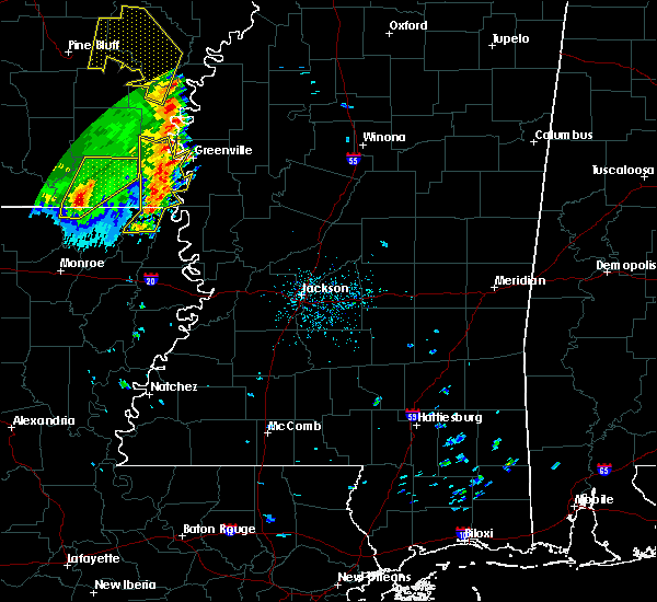 Radar Image for Severe Thunderstorms near Eudora, AR at 4/29/2017 5:54 PM CDT