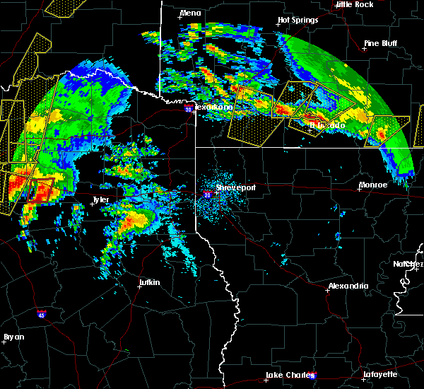 Radar Image for Severe Thunderstorms near Calion, AR at 4/29/2017 6:05 PM CDT