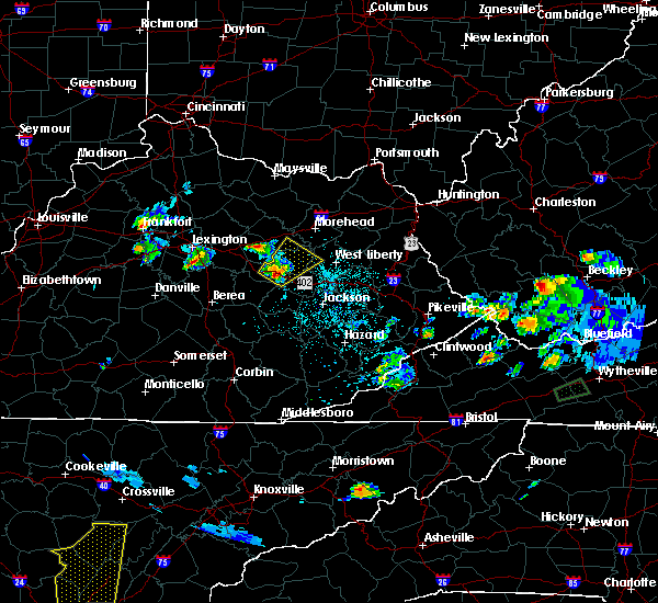 Radar Image for Severe Thunderstorms near Jeffersonville, KY at 4/29/2017 7:34 PM EDT