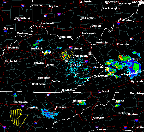 Radar Image for Severe Thunderstorms near Morehead, KY at 4/29/2017 7:59 PM EDT