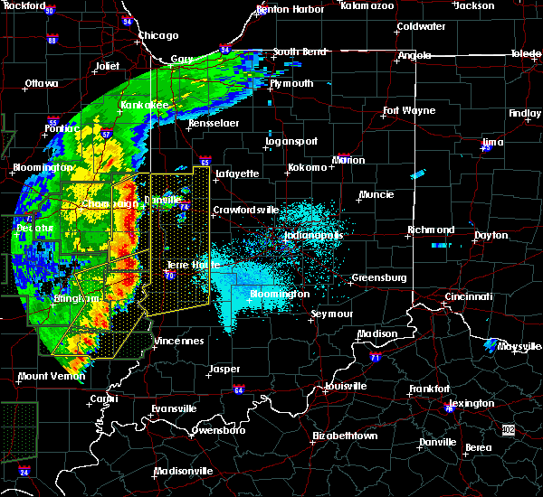 Radar Image for Severe Thunderstorms near Otterbein, IN at 4/29/2017 8:44 PM EDT